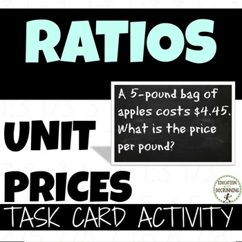 Unit Prices with unit conversions Word Problems Task Card