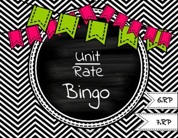 Unit Rate Bingo (with measurements)
