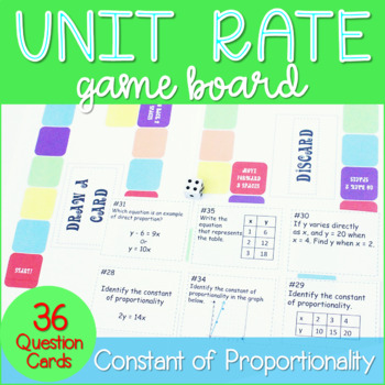 Unit Rate / Constant of Proportionality Game Board ~Common