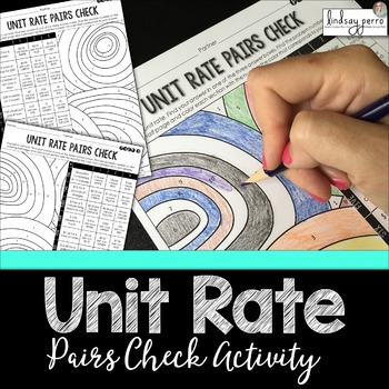 Unit Rate Pairs Check Activity