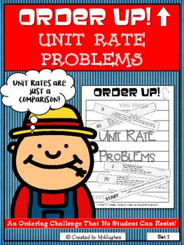 Unit Rate Problems - Order Up! Set 1