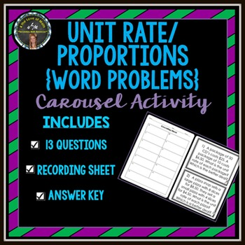 Unit Rate / Proportions: Carousel Activity