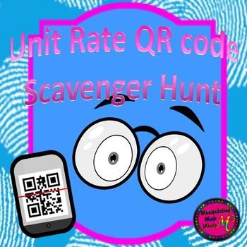 Unit Rate QR code Scavenger Hunt Activity - Great unit or
