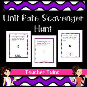 Unit Rate Scavenger Hunt for CCS 7.RP.1