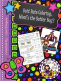 Unit Rate:  A Better Buy Coloring Activity