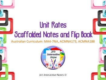 Unit Rates Scaffolded Notes and Flip Book