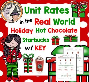 Unit Rates in Real Life Christmas Holiday Hot Chocolate St