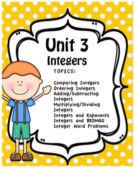Unit Three - Full Unit - Integers
