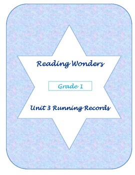 Unit Three Reading Wonders Running Records
