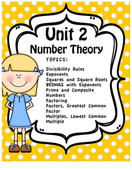 Unit Two - Full Unit - Number Theory