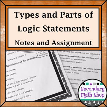 Proof Logic - Unit 2: Proof & Logic #3: Types/Parts of Sta