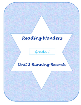 Unit Two Reading Wonders Running Records