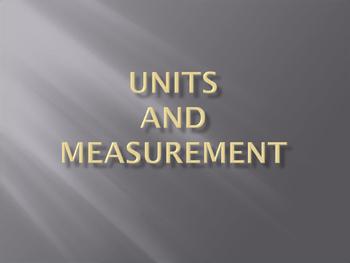 Unit and Measurement