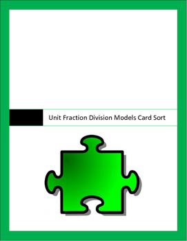 Unit fraction by whole numbers model match 5.3j