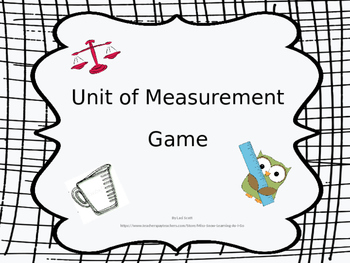 Unit of Measurement Matching Game