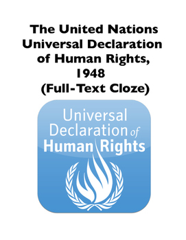 United Nations Universal Declaration of Human Rights, 1948