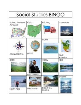 United States BINGO (Land Forms & Gov.)