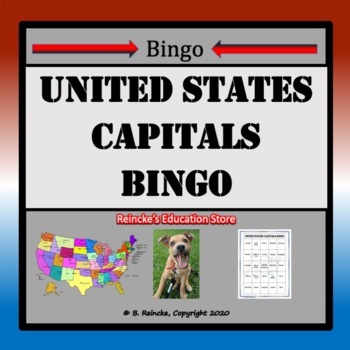 United States Capital Bingo (30 pre-made cards!)