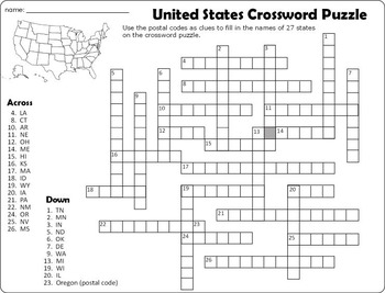 United States Crossword Puzzle and Word Search