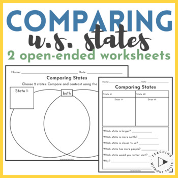 United States Geography- Compare 2 States