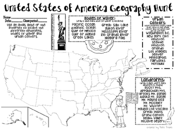 United States Geography Hunt