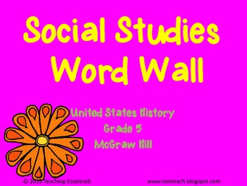 United States History (Gr 5) - McGraw Hill Word Wall