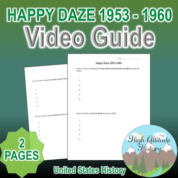 Happy Daze 1953 - 1960 Original Video Guide Questions