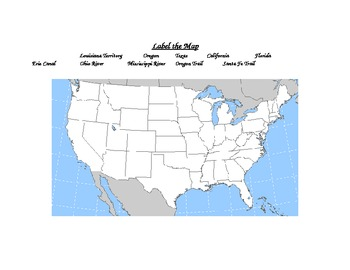 United States History Quiz Label the Map