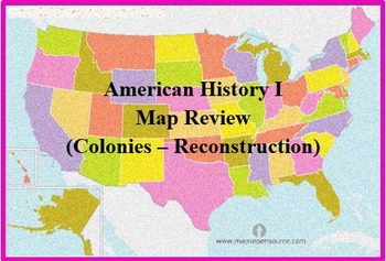 United States History Review Map 1