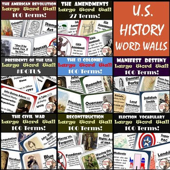 United States History Word Walls: 8-Pack!