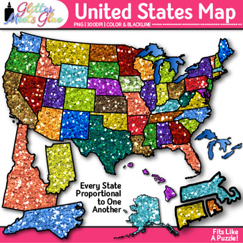 United States Map Clip Art {Social Studies Geography Resou