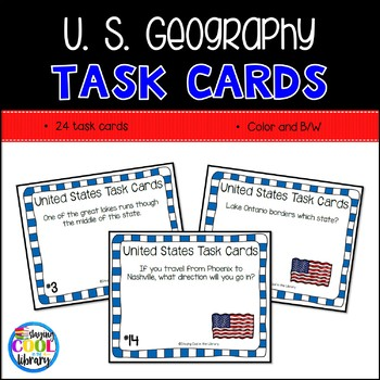United States Mapping Task Cards - Set 1