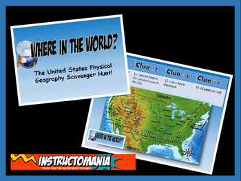 United States Physical Geography Class GAME: World Scaveng