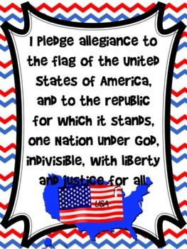 United States Pledge Poster