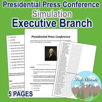 United States Presidential Press Conference Simulation (Go