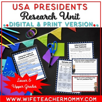 U.S. Presidents Unit- A Research Unit for United States Pr