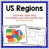 United States Regions Poster, Map and Interactive Notebook