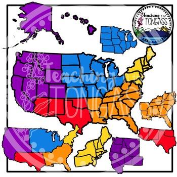 United States Regions Clipart Bundle