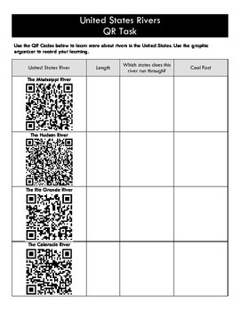 United States Rivers QR Code Task
