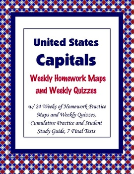 United States - States and Capitals Homework and Quizzes {