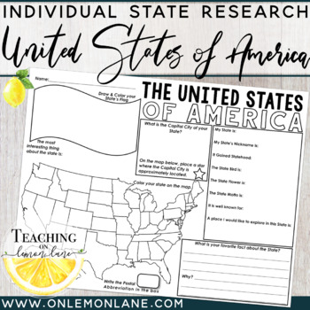 United States & Capitals Fact Fill In {Use with United Sta
