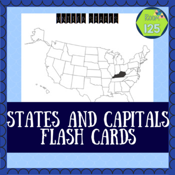 United States and Capitals Map Flashcards