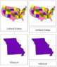United States of America: 3-Part Cards