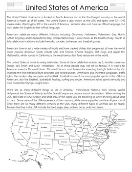 United States of America Fact Sheet