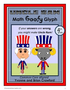USA Math Goofy Glyph (4th Grade Common Core)