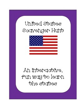 United States of America State Scavenger Hunt; Interactive