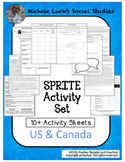 United States of America and Canada Reading & SPRITE Activity Set