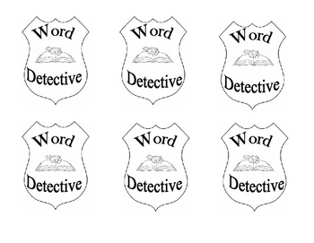 Units of Study Word detective badges