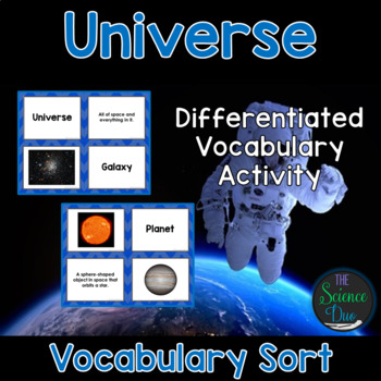 Universe Vocabulary Sort