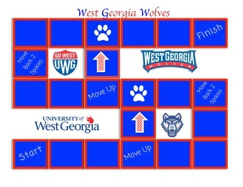 University of West Georgia Game Board